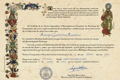 New system for the Compostela certificate