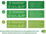 Itinerarios Camino de Santiago para obtener Compostela